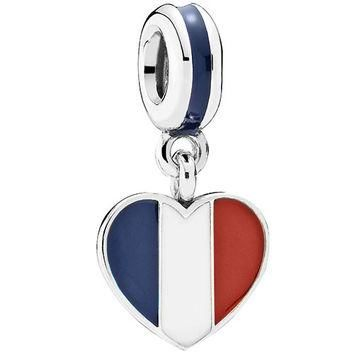 Authentic Pandora Jewelry - Heart Flag - France