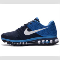 NIKE trend of plastic bottom casual shoes breathable running shoes Dark blue(white hook)