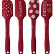 Faberware 4 Piece Spatula Set Red Polka Dot, I Love Baking, Food Coma