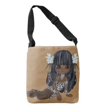 African American Lady All-Over-Print Cross Bag Tote Bag