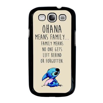 STITCH LILLO OHANA FAMILY QUOTES Samsung Galaxy S3 Case Cover