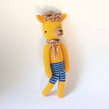 Crochet toy Amigurumi Baby toy Kid plush Crochet Alpaca Stuffed animal Crochet animal