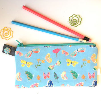 Butterflies Divided Pencil Case (handmade philosophy's pattern)