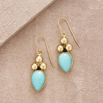 Amazonite Teardrop Earring