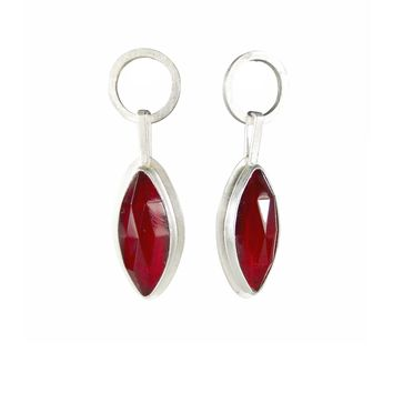 ALL NEW Inspired UPCYCLING Red Vintage Mod Leafy Dangle Earrings