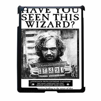 Sirius Black Wanted Poster iPad 4 Case