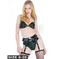 PVC Plain Suspender Belt - Plus Size