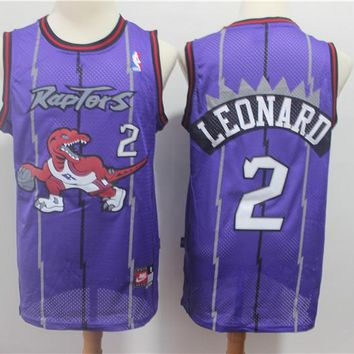 Men's Toronto Raptors Kawhi Leonard Mitchell & Ness Purple Hardwood Classics Swingman Jersey - Best Deal Online