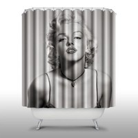 Pink Peri™ Marilyn Monroe Shower Curtain Handmade Home & Living Bathroom,70-Inch by 70-Inch