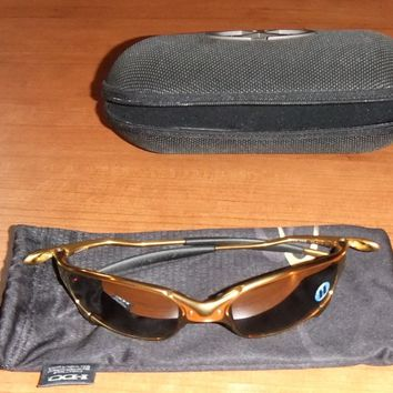 Oakley Juliet 24k Gold Sunglasses SAMPLE Titanium Polarized 24-293 NEW
