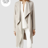 Womens Hace Trench (Oyster) | ALLSAINTS.com