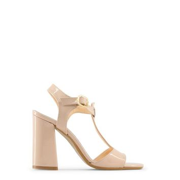 Made In Italia Brown Faux Leather Sandals