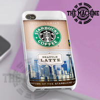 Starbuck Coffe Seattle Latte - iPhone 4/4s/5 Case - Samsung Galaxy S3/S4 Case - Black or White