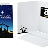 Amazon.com $200 Gift Card in a Greeting Card (Christmas Nativity Design)