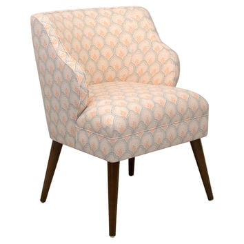 Kira Chair, Ivory Print, Accent & Occasional Chairs
