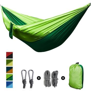 2 People camping outdoor Portable Parachute Hammock survival camping equipment Garden Leisure Double hanging Swing 270x140cm