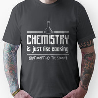 Chemistry is like cooking but don't lick the spoon t-shirt Unisex T-Sh
