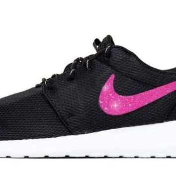 sports shoes 5570b cf89b ... canada clearance nike roshe one vinyl swoosh pink cf25d 9569c