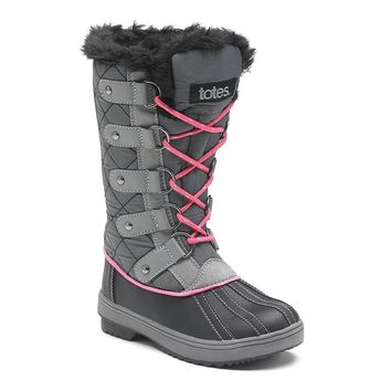 Totes Sasha Girls' Winter Boots (Grey)