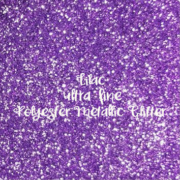 LILAC PURPLE - GLITTER - Polyester Metallic - 1oz - 2oz - 4oz - 8oz - craft supply - sparkles - bling - crafts - nail art - nail polish