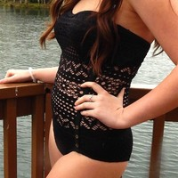 Beautiful Black flattering Swim Suits! 3 styles-Lacie Girl
