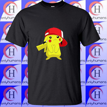 Pikachu Anime, pokemon shirt, disney tshirt, funny clothing, Unisex Tshirt Adult (S,M,L,XL,XXL,XXXL)