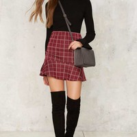 Ain't Half Plaid Ruffle Skirt