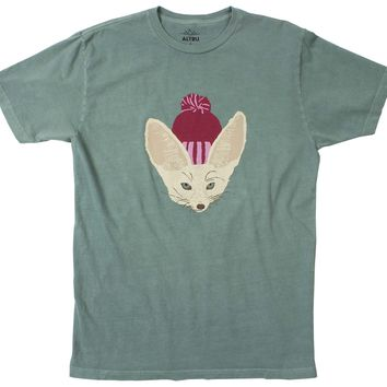 Fox in Hat Emerald Tee by Altru Apparel