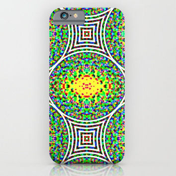 iPhone 6 Case - Neon Garden Maze - geometric iPhone case, unique iPhone case, hipster iphone case, iphone 6 case, iPhone 6 Plus Case