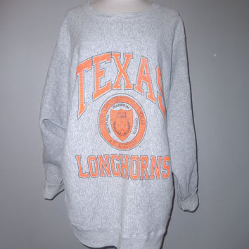 vintage 80's oversized Texas Longhorns sweat shirt  WHOLESALE