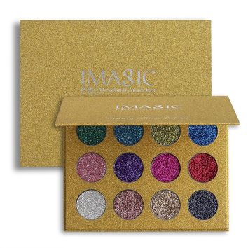 1PC Glitter Injections Pressed Glitters Single Eyeshadow Diamond Rainbow Makeup Cosmetic Eye shadow Magnet Palette 12 Colors