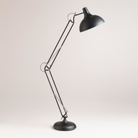 Black Task Floor Lamp - World Market