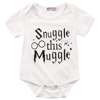 Snuggle This Muggle Harry Potter Baby Romper Newborn Baby Clothes Jumpsuit Outfit