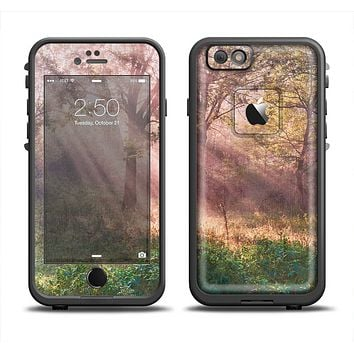 The Pink Sun Ray Meadow Skin Set for the Apple iPhone 6 LifeProof Fre Case