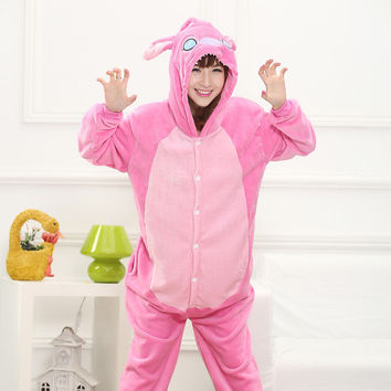 Cartoons One-piece Animal Home Pink Sleepwear [6819645383]