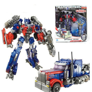 Optimus Prime Transformation Robots Dark of the Moon Figure Car Toys For Children Classic Toy Christmas Gift BXJG006