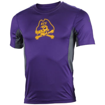 East Carolina Pirates Nike Pro Combat Hypercool T-Shirt – Purple