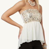 Sequined Tube Top | Glitzy Glam | rue21
