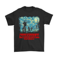 QIYIF Stranger Night Mashup The Starry Night Stranger Things Shirts