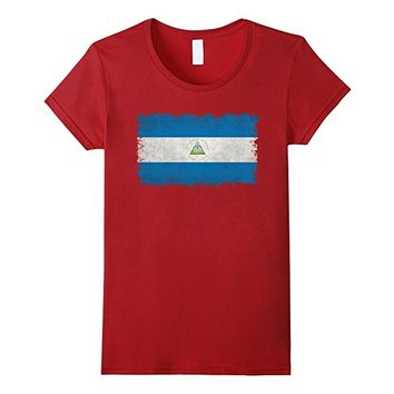 Flag of Nicaragua T-Shirt in Vintage Retro Style