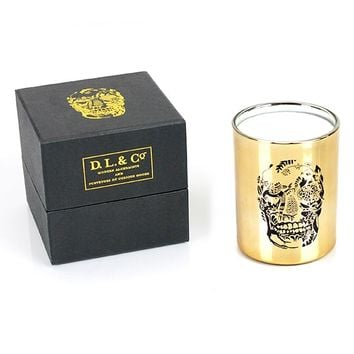 """Delft Skull"" Tumbler by D.L. & Co (Gold)"