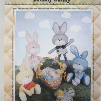 Sunday Bunny Vintage 1982 Doll Patch Press Pattern Easter Bunny Rabbit Toy New Uncut Paper Pattern