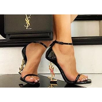 YSL Yves Saint Laurent Classic Popular Women High Heels Shoes Sandals 2#