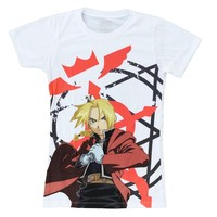 Fullmetal Alchemist Brotherhood: Edward Elric Sublimation Girls T-shirt (Medium)