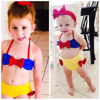 Baby Girls Princess Snow White Bikini Set Swimwear Swimsuit Bathing Suit Costume