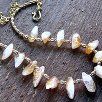 Citrine Nugget Necklace Bohemian Jewelry