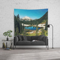 Lake reflections Wall Tapestry by Sylvia Cook Photography