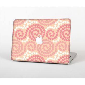 The Pink Spiral Polka Dots Skin Set for the Apple MacBook Pro 15""