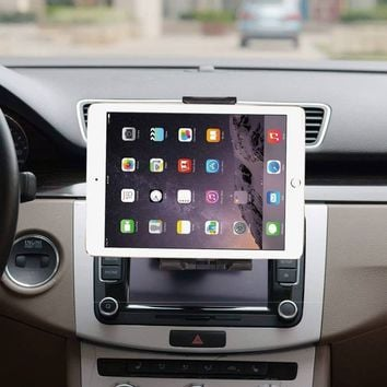 CD Slot Universal Tablet Car Mount Holder for Cell Phone & 4-12 inch Tablets Pad