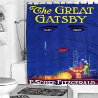 Great Gatsby shower curtain